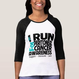 I Run For Peritoneal Cancer Awareness Tee Shirt