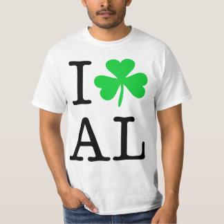 I Shamrock (Love Heart) Alabama AL Tee Shirt