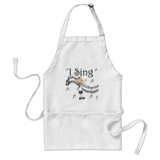 I Sing Musical Stick Figure T-shirts and Gifts Standard Apron
