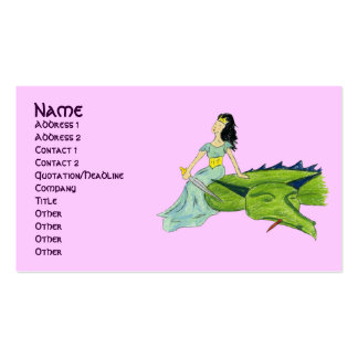 I SLAYED THE DRAGON - PRINCESS profile card Pack Of Standard Business Cards