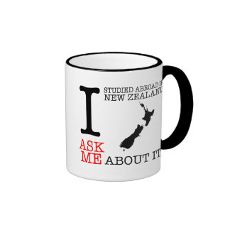 I Studied Abroad in New Zealand Mug! Ringer Mug