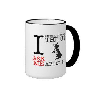 I studied Abroad in the UK Mug! Ringer Mug