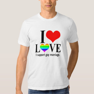I Support Gay Marriage Tee Shirt
