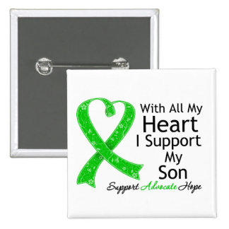 I Support My Son All My Heart 15 Cm Square Badge