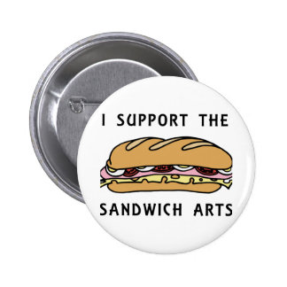 I Support The Sandwich Arts 6 Cm Round Badge