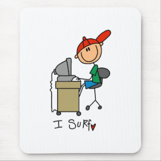 I Surf the Web Mouse Pad