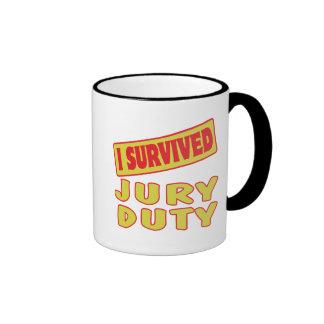 I SURVIVED JURY DUTY RINGER MUG
