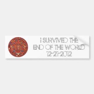 I Survived the End of the World 12-21-2012 Bumper Sticker