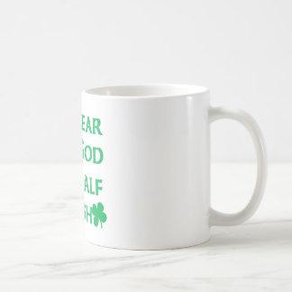 I Swear To Go I'm Half Irish Basic White Mug