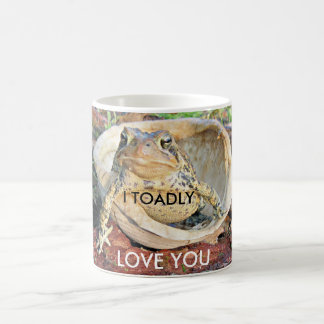 I Toadly Love You Toad Sitting In A Turtle Shell Basic White Mug