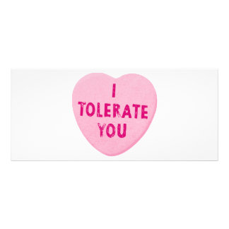 I Tolerate You Valentine's Day Heart Candy Customized Rack Card