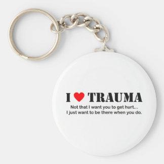 I ♥ Trauma Basic Round Button Key Ring