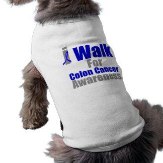 I Walk For Colon Cancer Awareness Sleeveless Dog Shirt