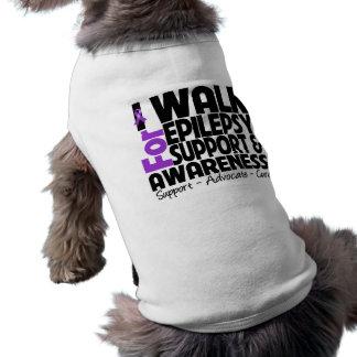 I Walk For Epilepsy Awareness Sleeveless Dog Shirt