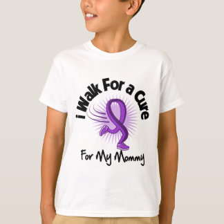 I Walk For My Mommy - Purple Ribbon Tee Shirts