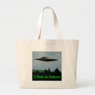 I want to believe jumbo tote bag