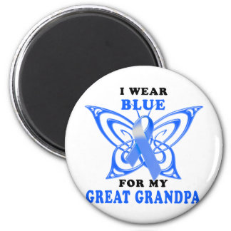 I Wear Blue for my Great Grandpa 6 Cm Round Magnet
