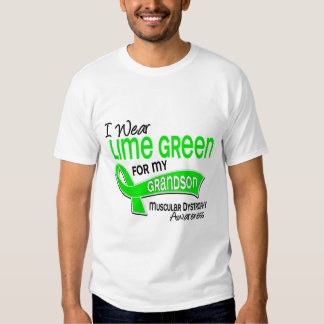 I Wear Lime Green 42 Grandson Muscular Dystrophy T-shirts