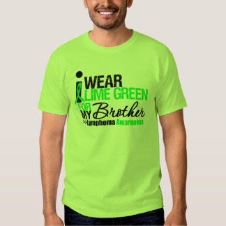 I Wear Lime Green For My Brother Tee Shirt
