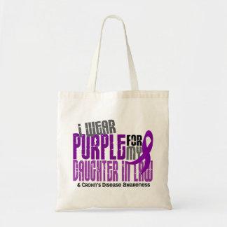 I Wear Purple Daughter-In-Law 6 Crohn's Disease Budget Tote Bag