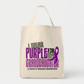 I Wear Purple For Granddaughter 6 Crohn's Disease Grocery Tote Bag