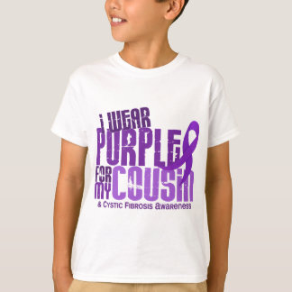 I Wear Purple For My Cousin 6.4 Cystic Fibrosis Tshirt