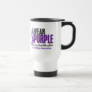 I Wear Purple For My Granddaughter 10 Epilepsy Stainless Steel Travel Mug