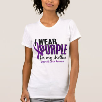 I Wear Purple For My Mother 10 Pancreatic Cancer Shirt