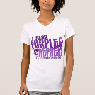 I Wear Purple For My Nephew 6.4 Cystic Fibrosis Tee Shirts