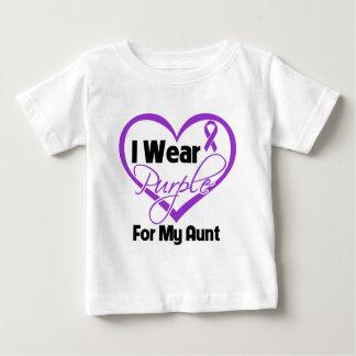 I Wear Purple Heart Ribbon - Aunt Tee Shirts