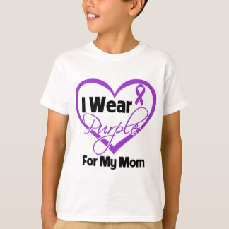 I Wear Purple Heart Ribbon - Mom Shirt