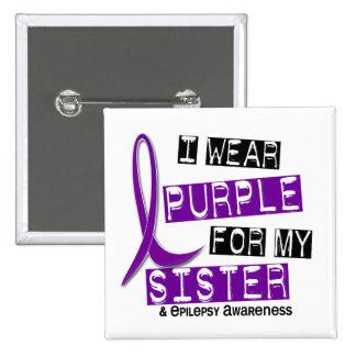 I Wear Purple Sister Epilepsy 15 Cm Square Badge