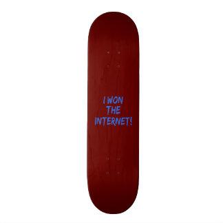 I Won the Internet - Red Background Skateboard Decks