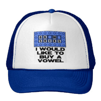 I would like to buy a vowel - Obama Sucks Cap