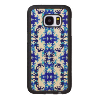 Ice Blue Snowboarder Sky Tile Snowboarding Sport Wood Samsung Galaxy S7 Case