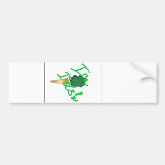 Ice cream horn filled with symbol of Ireland Bumper Sticker