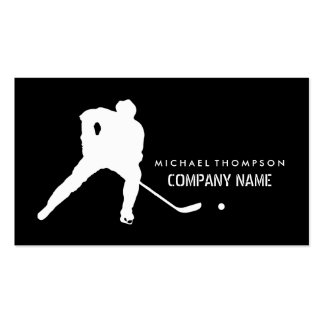 Ice Hockey Player And Any Color Background Pack Of Standard Business Cards