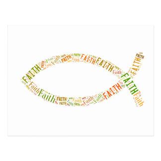 Ichthus - Christian Fish Symbol - Faith Postcard