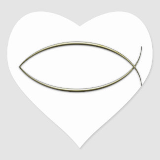 Ichthus Heart Sticker