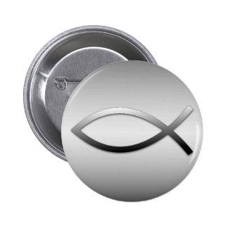 Ichthys Jesus Fish Christian Symbol 6 Cm Round Badge