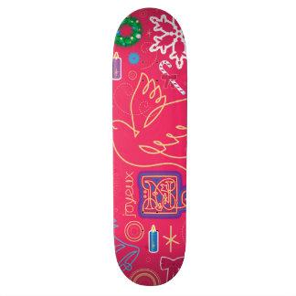 Iconic Christmas Illustration Skateboard