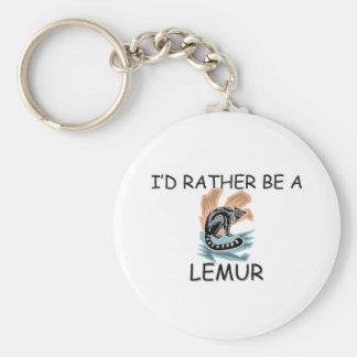 I'd Rather Be A Lemur Basic Round Button Key Ring