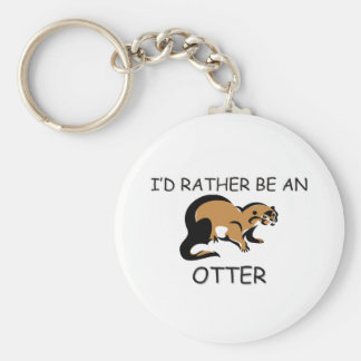 I'd Rather Be An Otter Basic Round Button Key Ring