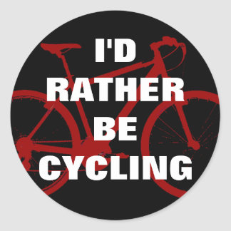 I'd rather be cycling round sticker