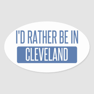 I'd rather be in Cleveland TN Oval Sticker