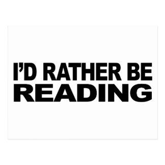 I'd Rather Be Reading Postcard