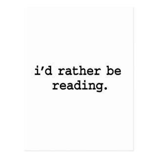 i'd rather be reading. postcard