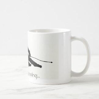 I'd rather be skiing...mug basic white mug