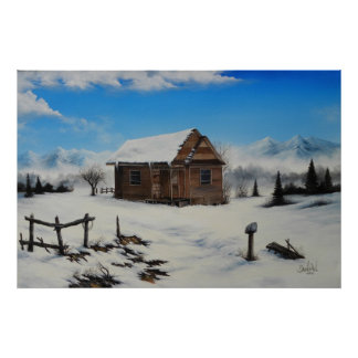 Idaho farm house Oil Painting by David Paul Poster