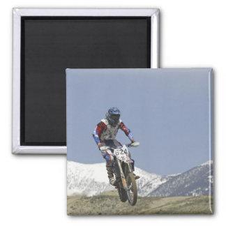 Idaho, Motocross Racing, Motorcycle Racing 2 Square Magnet
